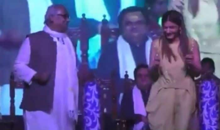 Raveena Tandon and MP Saugata Roy
