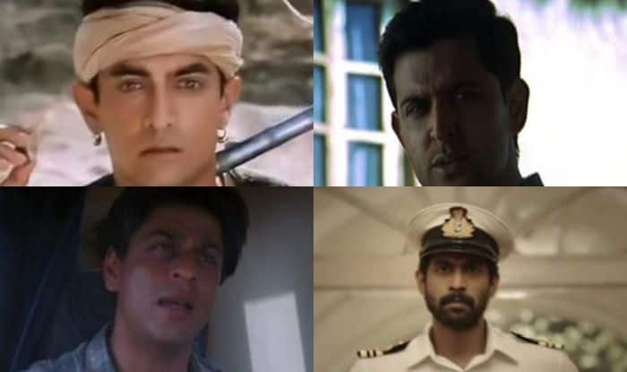 Stills from movies Lagaan, Lakshya, Swades and The Ghazi Attack