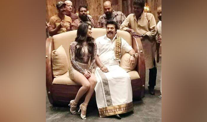 Sunny Leone with Mammootty