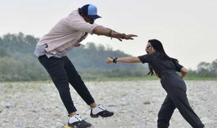 Sunny Leone, Rannvijay Singh on the sets of Splitsvilla 11