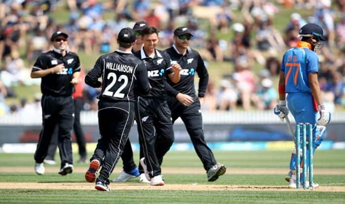 Trent Boult celebrates a wicket during 4th ODI vs India_ICC