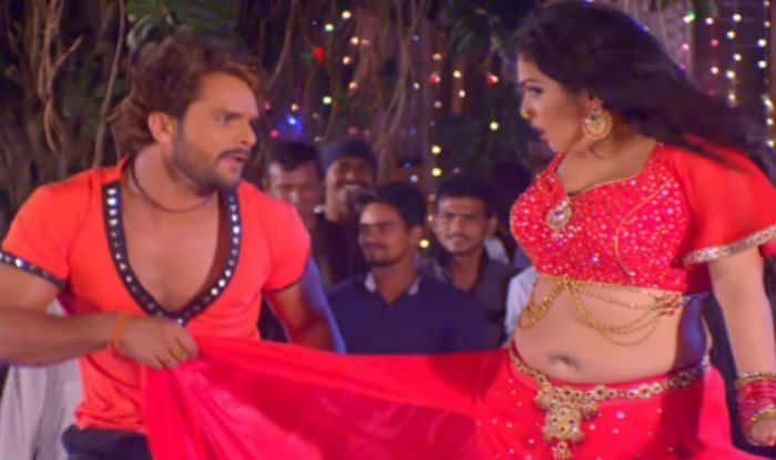Amrapali Dubey and Khesari Lal Yadav