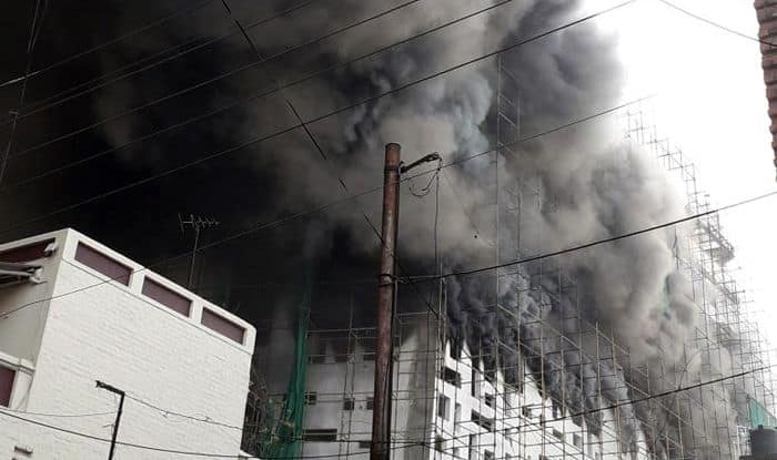 Nagpur: Massive Fire Breaks Out at Under-Construction Building, 7 Injured