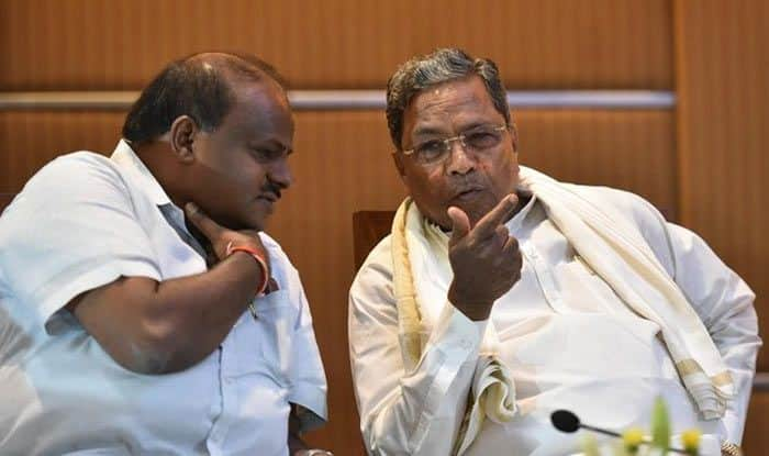 H D Kumaraswamy and Siddaramaiah - File Photo