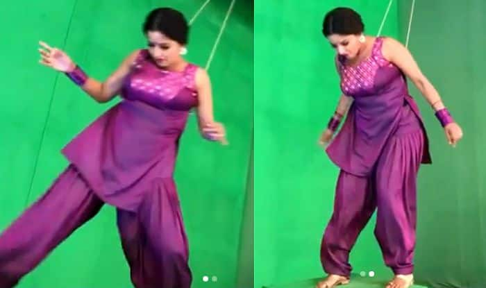 Bhojpuri Hot Actress Monalisa Learns to Jump And Polish Action Technique For Her Role, Posts Inspiring Clip