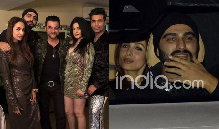 Arjun Kapoor Celebrates New Year With Rumoured Girlfriend Malaika Arora at Sanjay Kapoor's Residence, Karan Johar And Others Join in