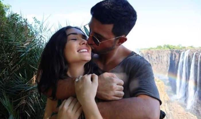 Amy Jackson with boyfriend George Panayiotou