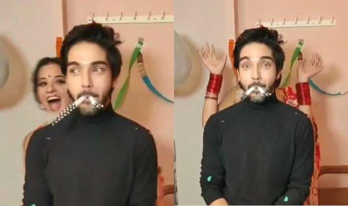 Bhojpuri Hottie Monalisa Celebrates Birthday of Her Nazar Co-Star, Watch