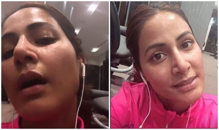 Hina Khan Sweating it Out in The Gym Can Be Your Perfect Motivation- See pics