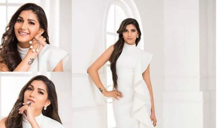 Haryanvi Dancer Sapna Choudhary Looks Hot And Stylish in White Long Dress, See Transformation Pictures