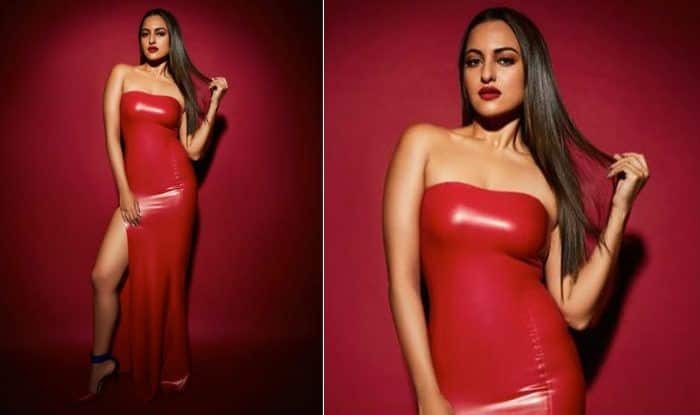 Sonakshi Sinha's Hot Picture in Red Latex Dress is Proof She Can Slay it Like Boss Wearing Anything And Everything