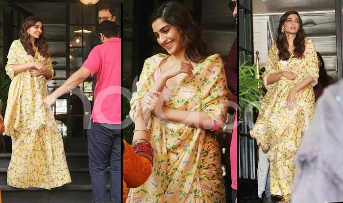 Sonam Kapoor Wears Pastel Yellow Saree With so Much Ease You'll Wonder is There Anything She Can Don Without Looking This Pretty-See Pics