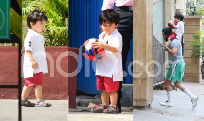 Taimur Ali Khan's New Photos Out: Kareena Kapoor's Baby Plays Football With Daddy Saif Ali Khan