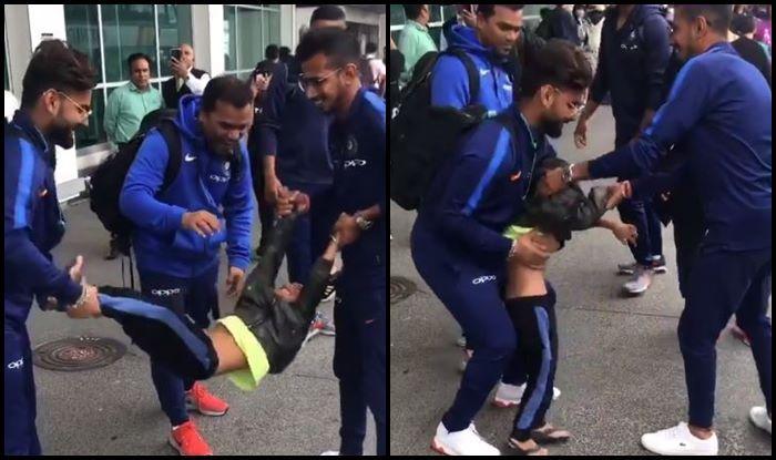 India vs New Zealand 2nd T20I: Rishabh Pant, Yuzvendra Chahal Babysit Shikhar Dhawan's Son Zoravar Ahead of Auckland Clash Against Kiwis   PICS