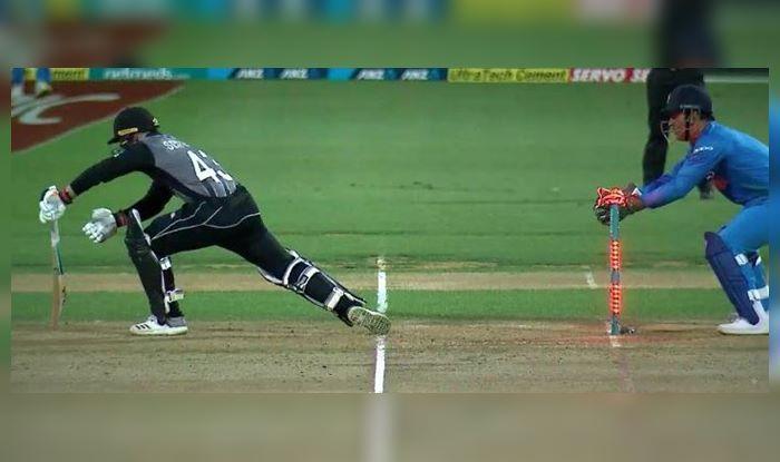 India vs new Zealand MS Dhoni R