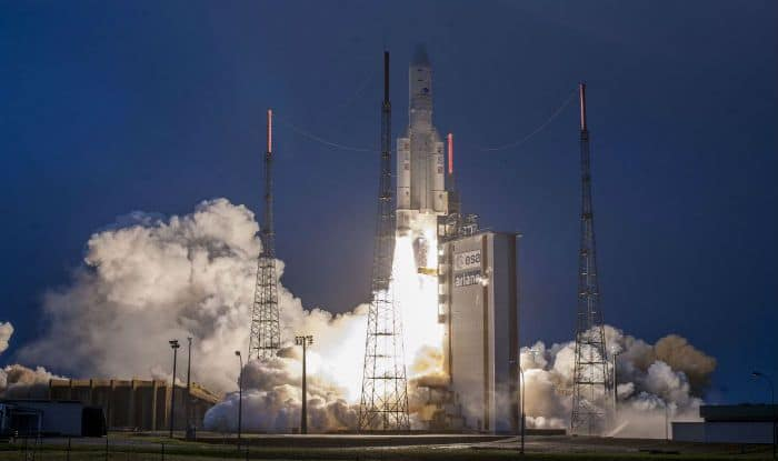 India's Latest Communication Satellite GSAT-31 Successfully Launched on Board Ariane-5 From French Guiana
