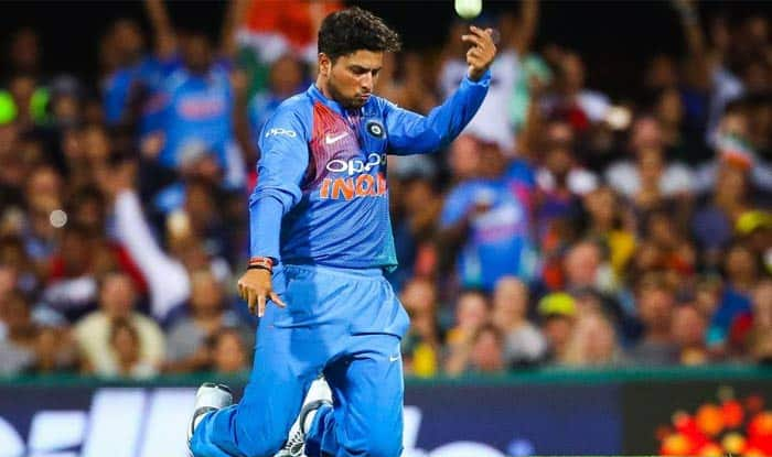 File image of Kuldeep Yadav celebrating a wicket_ICC