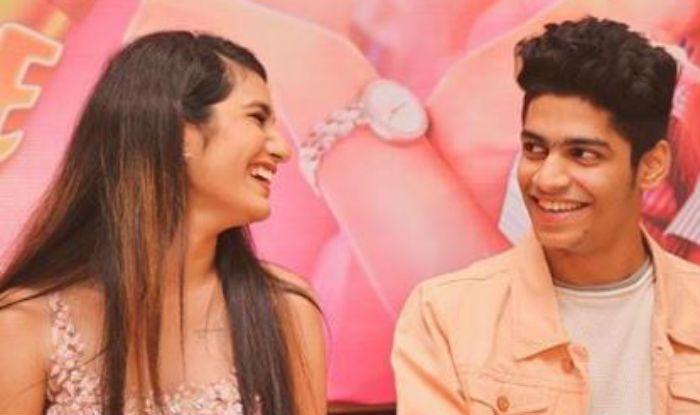 Priya Prakash Varrier-Roshan Abdul Rauf during Oru Adaar Love Promotions