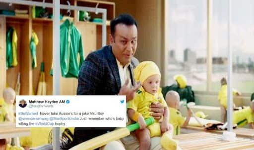 Sehwag featured in India vs Australia tour advertisement