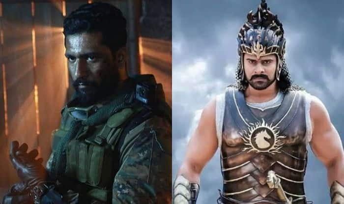 Vicky Kaushal and Prabhas in stills from Uri and Baahubali