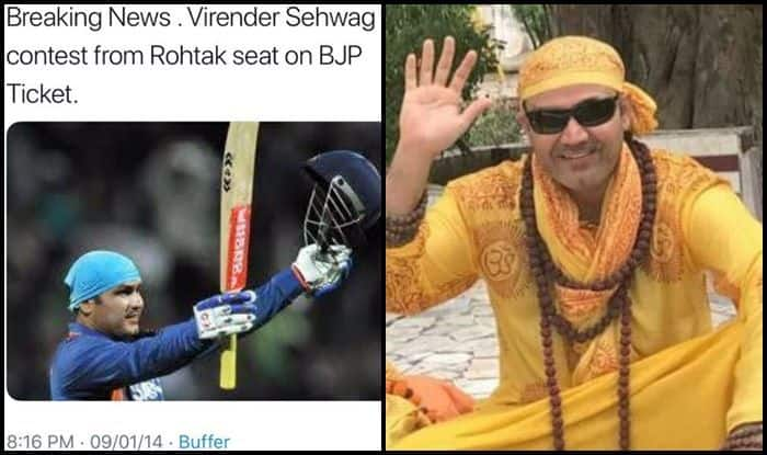 Virender Sehwag denies joining politics
