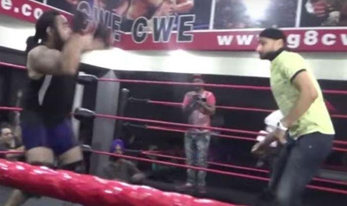 bhajji-vs-wrestler-in CWE