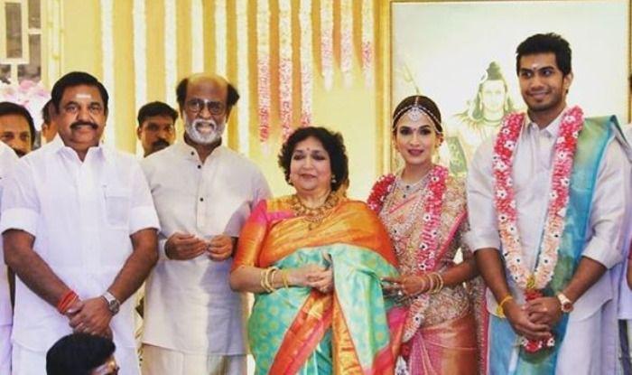 Rajinikanth's Daughter Soundarya Takes Wedding Vows With Vishagan Vanangamudi, See Pics