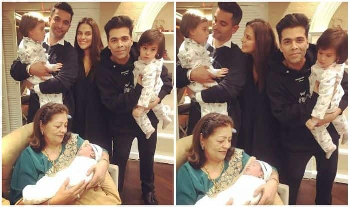 Neha Dhupia Melts Hearts With Adorable Bday Wish For KJo's Twins Yash-Roohi