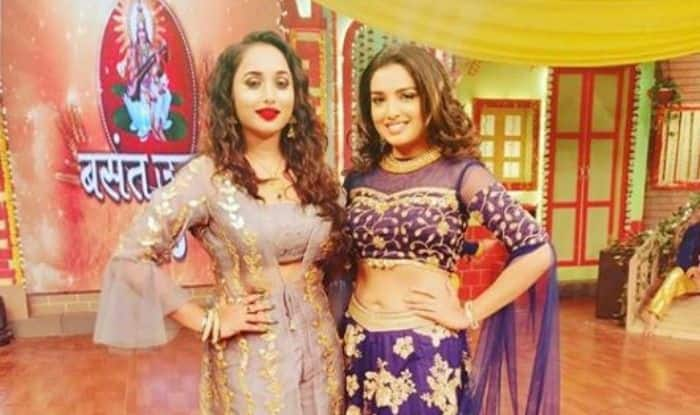 Bhojpuri Hotties Amrapali Dubey And Rani Chatterjee Share Frame as They Celebrate Basant Utsav