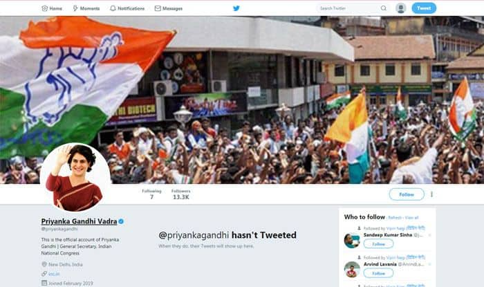 Priyanka Gandhi Vadra Makes Debut on Twitter Ahead of Grand Roadshow in Lucknow Today