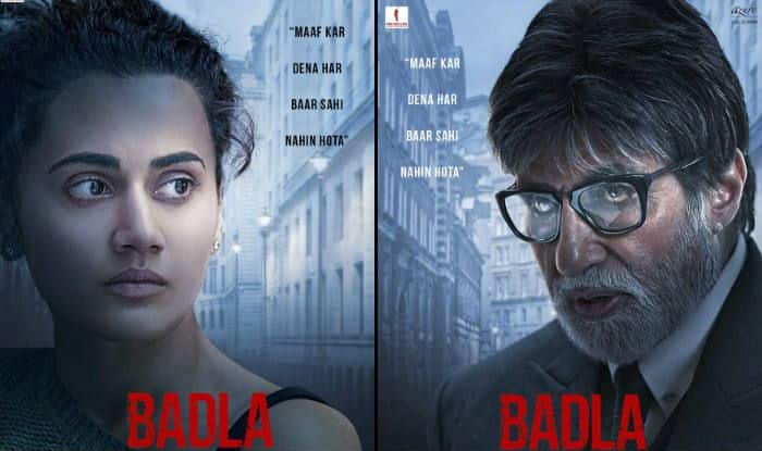 Badla Posters: Meet Amitabh Bachchan And Taapsee Pannu From Sujoy Ghosh's Next Crime Thriller