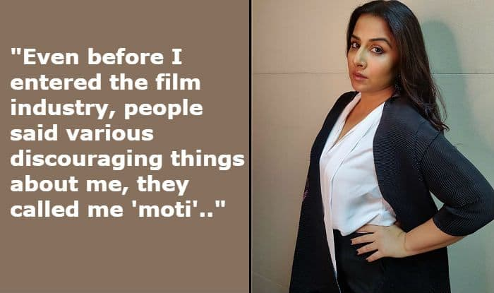 Vidya Balan Shares an Incident When She Was Called 'Moti', Says Sexism Exist Everywhere