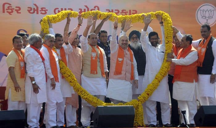 BJP, SAD, Shiv Sena, LJP leaders at Amit Shah's rally