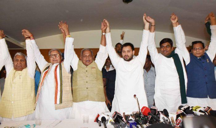 RJD, HAM, VIP RSLP chiefs in Patna