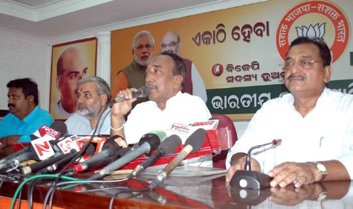 BJP leader Bijoy Mohapatra. Photo Courtesy: IANS
