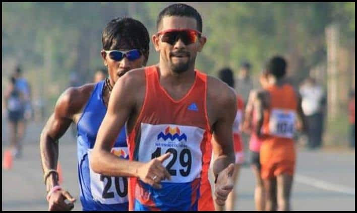KT Irfan the Asian Race Walking Championships. (Picture credits- @indian_athletes Photo)
