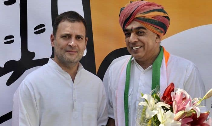 Manvendra Singh with Rahul Gandhi