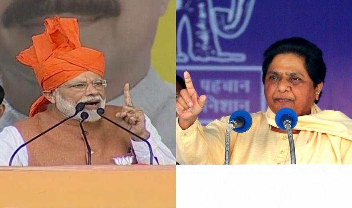 PM Narendra Modi and BSP chief Mayawati