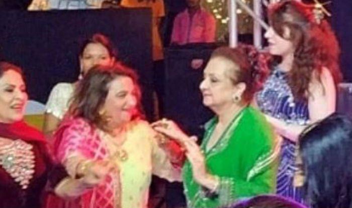 Saira Banu at Sayyeshaa Saigal's sangeet ceremony