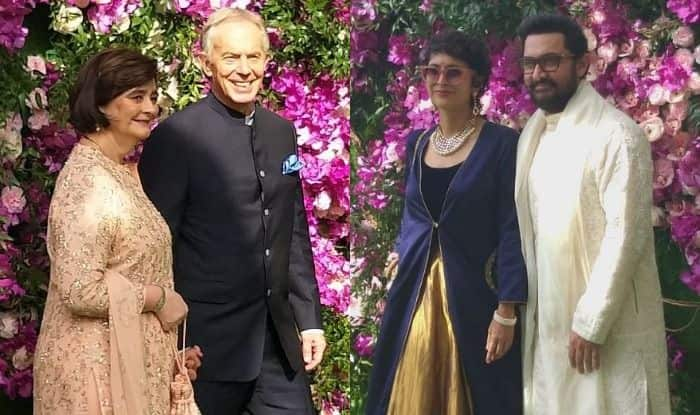Tony Blair with his wife Cherie Blair and Aamir Khan with Kiran Rao