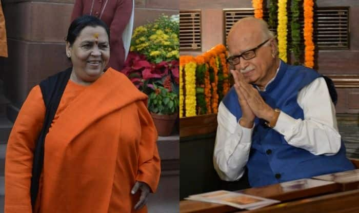 BJP leaders Uma Bharti and LK Advani
