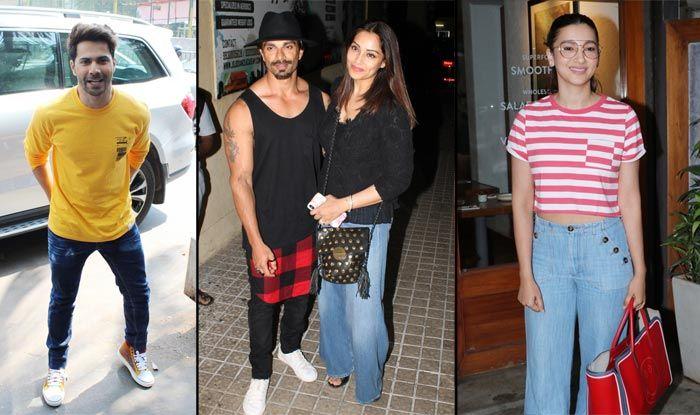 Alia, Anushka, Dimple, Twinkle, Bipasha, Varun Spotted in Mumbai