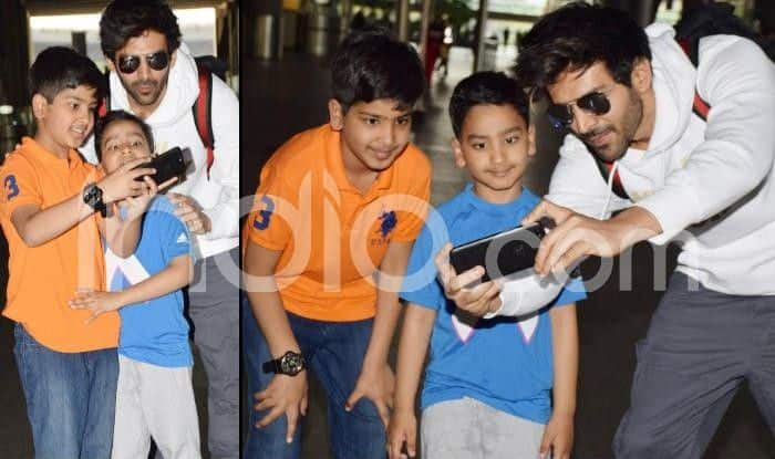 Kartik Aaryan Takes Selfie With Kids at Airport And Shows How Being Humble is The Top Quality of a Star