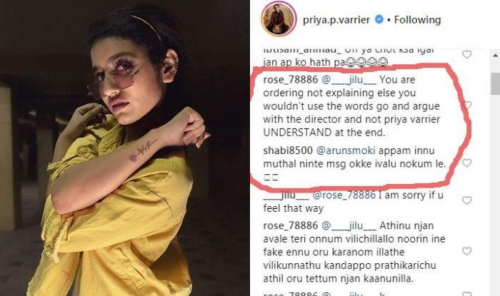 Priya Prakash Varrier Gives an Apt Reply to Oru Adaar Love Director Omar Lulu, Gets Trolled Instead