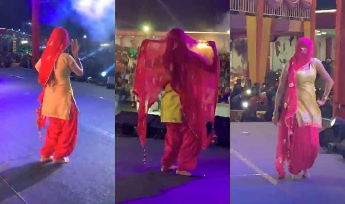 Sapna Choudhary's Sexy Dance Moves at a Recent Stage Show For Holi Thrills Audience