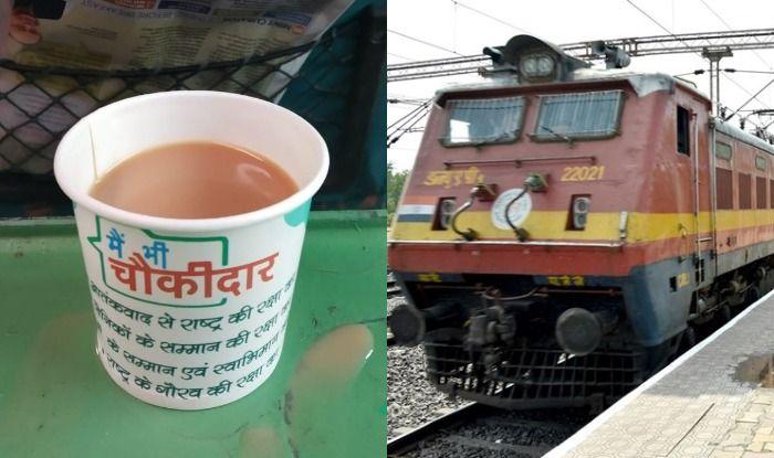 Indian Railway Withdraws Tea Cups of 'Main Bhi Chowkidar' Slogan After Photo Goes Viral