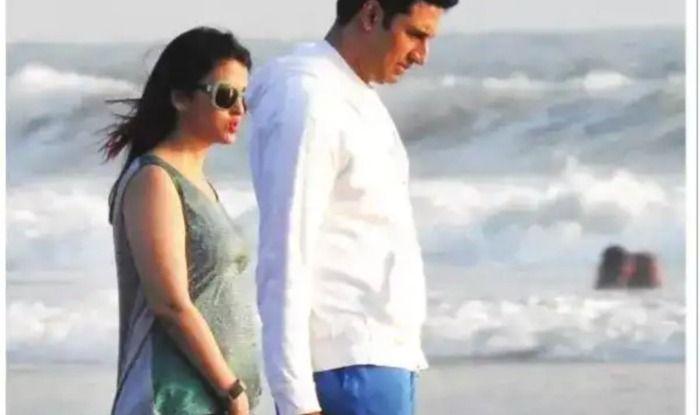 Aishwarya Rai Bachchan with husband Abhishek Bachchan in Goa