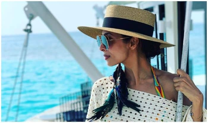 Malaika Arora Slaying in White Karoshi Shrug And Shorts in Maldives, See Pic