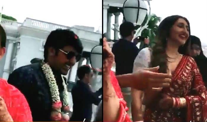 Dilip Kumar's Niece Sayyeshaa Gets Married to Arya; First Video of Newlyweds Out – Watch