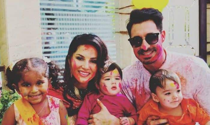 Sunny Leone's Special Holi Picture With Kids Nisha, Noah, Asher And Husband Daniel Weber is Adorable, See Here